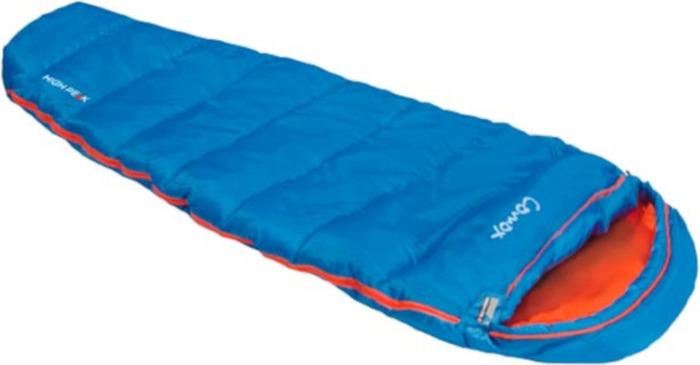 Спальный мешок High Peak Comox, 23047, левосторонняя молния, голубой