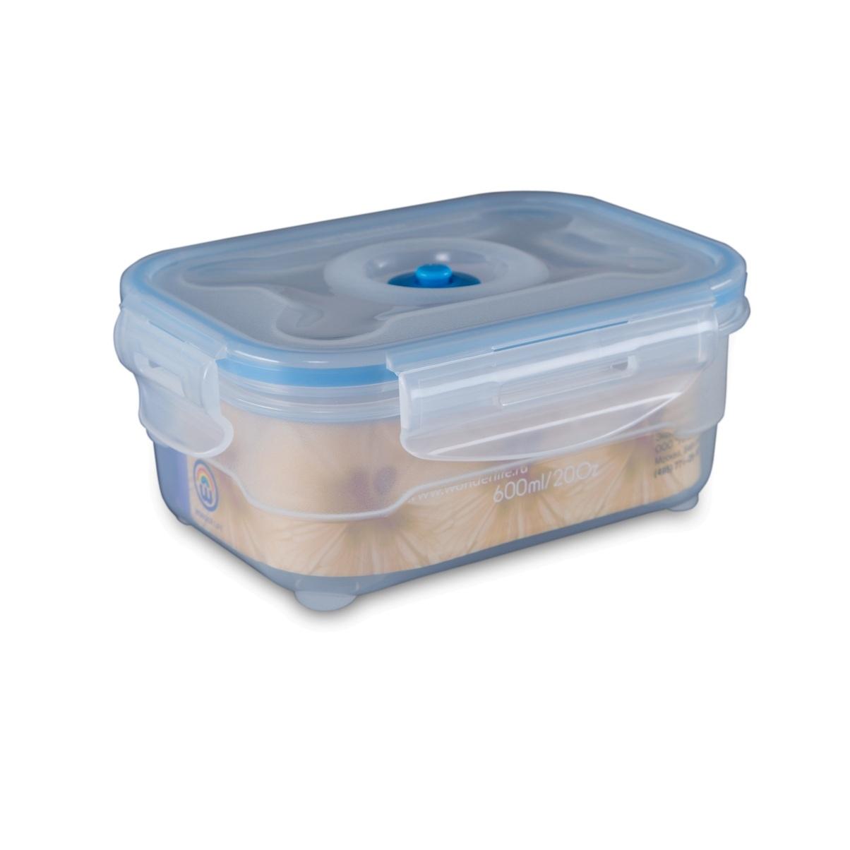 Контейнер вакуумный для пищи Wonder Life Пищевой вакуумный контейнер Тайвань 0,6 мл, прозрачный контейнер вакуумный для хранения сыпучих продуктов prepara evak 1 36 л