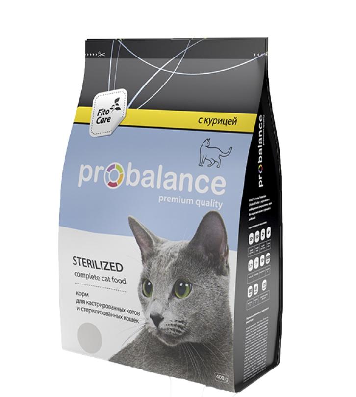 все цены на Корм сухой PROBalance Sterilized для Стерилизованных кошек и Кастрированных котов Курица и рис онлайн