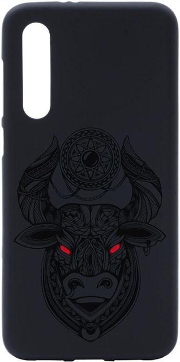 Чехол для сотового телефона GOSSO CASES для Xiaomi Mi 9 SE Matt Black Art Grand Bull, черный