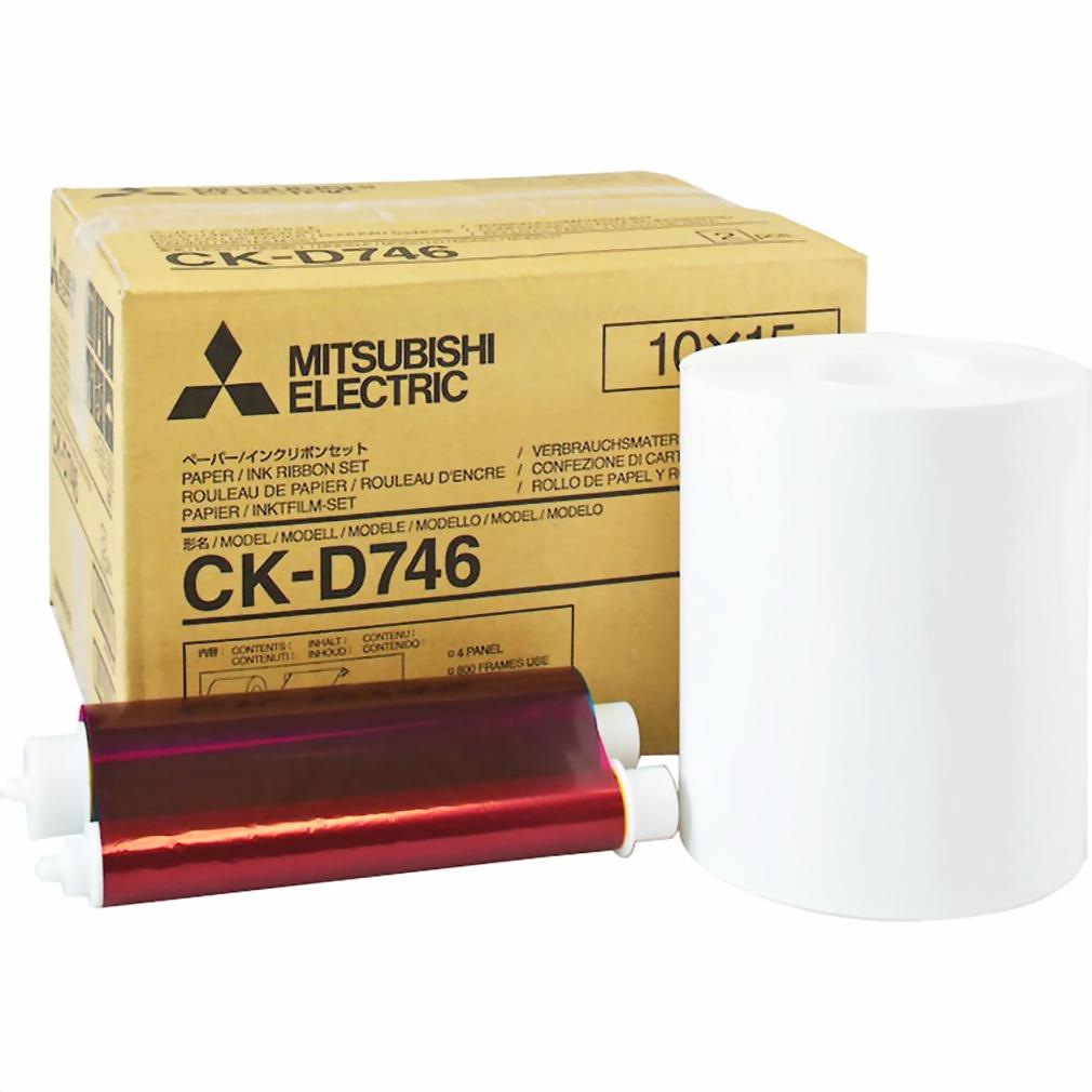 Картридж MITSUBISHI CK-D746, для термосублимационного принтера картридж canon rp 108 10x15 для selphy cp