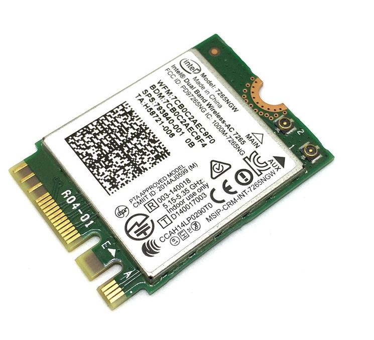 7265NGW, M.2 NGFF модуль WiFi (b/g/n/ac), 2.4/5Ghz, Bluetooth 4.0, Intel 2 4 5ghz wireless dual band uk plug wi fi repeater white black