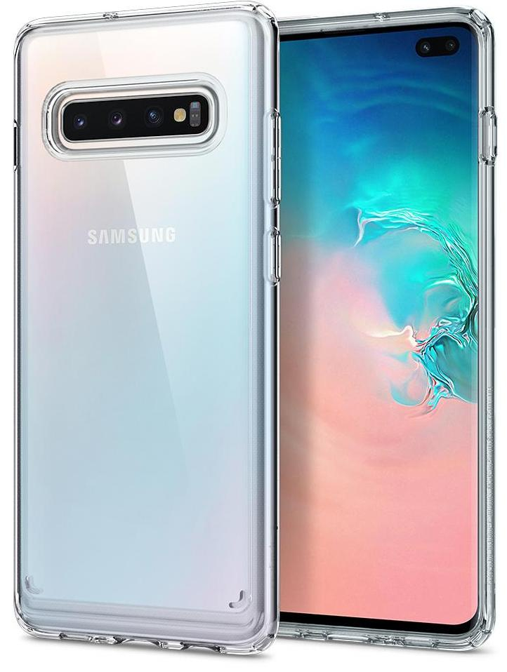 Чехол для сотового телефона SGP Ultra Hybrid для Galaxy S10+, прозрачный цены онлайн