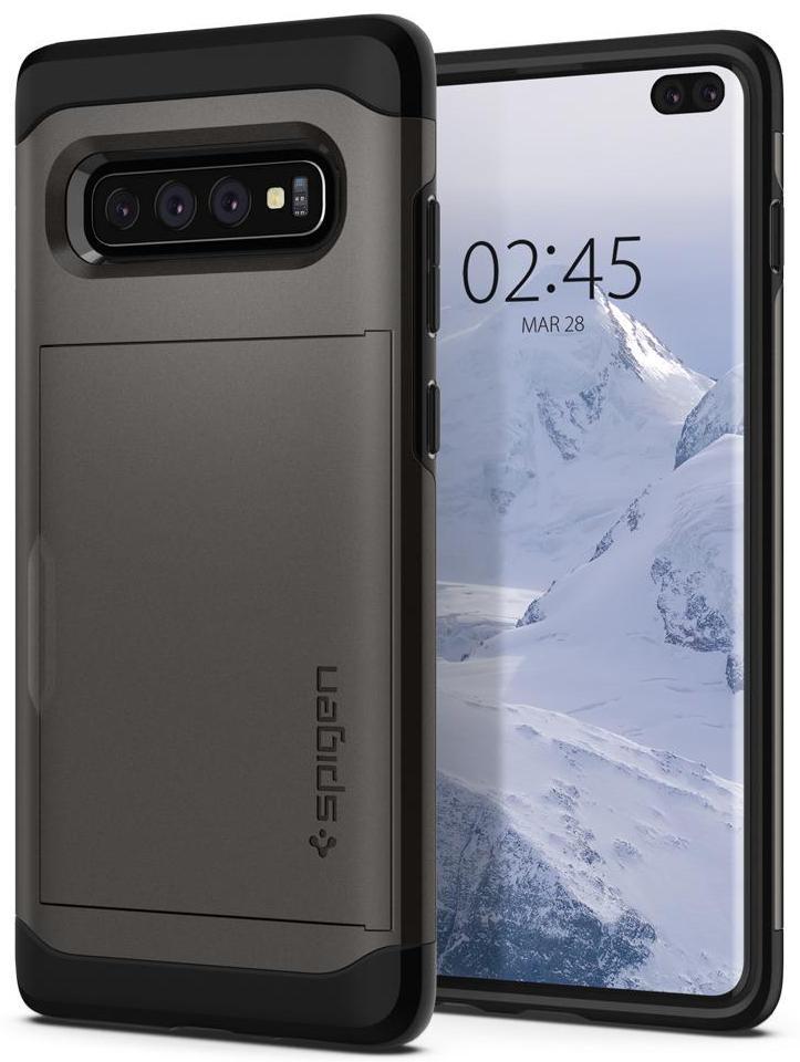 Чехол для сотового телефона SGP Slim Armor CS для Galaxy S10+, серый стоимость