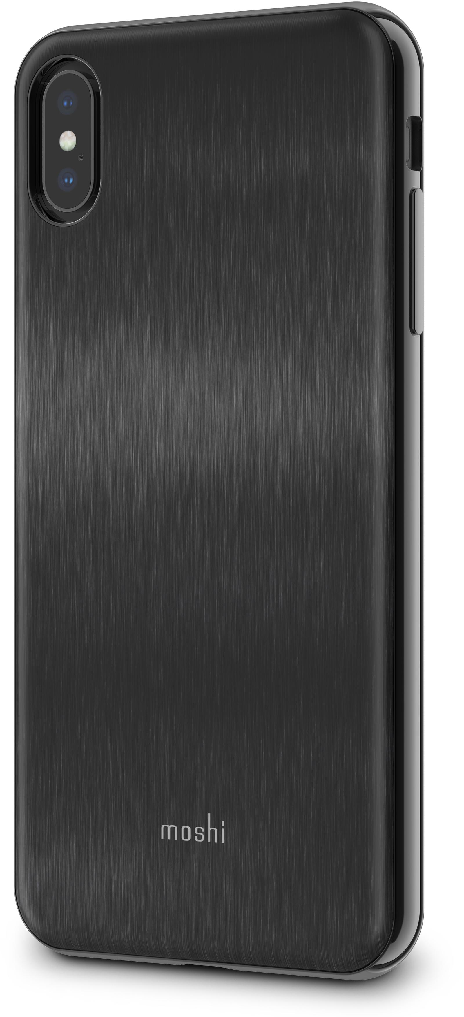 Чехол для сотового телефона Moshi iGlaze для iPhone XS Max, черный накладка moshi iglaze для iphone xs max чёрный 99mo113002