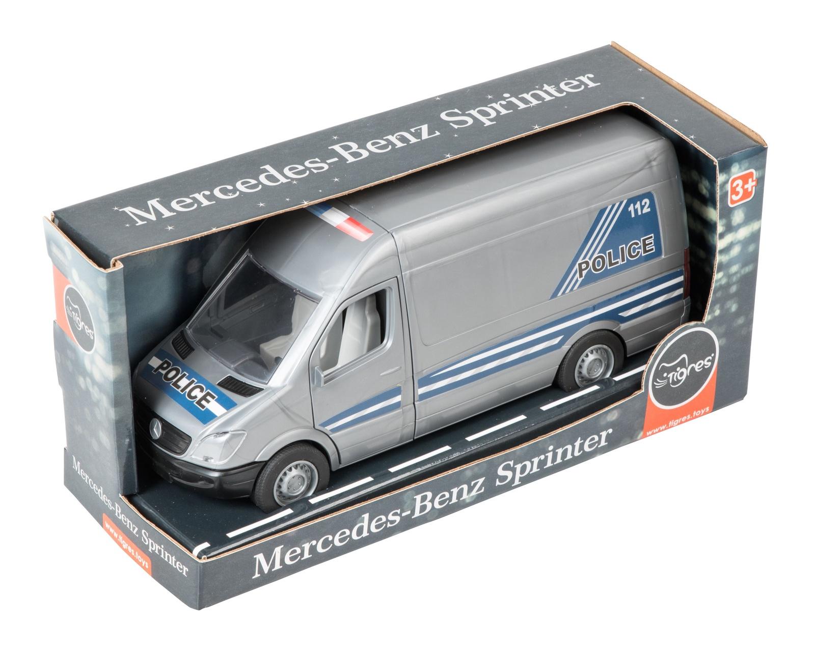 Машинка-игрушка Tigres Mercedes-Benz Sprinter полицейский разноцветный