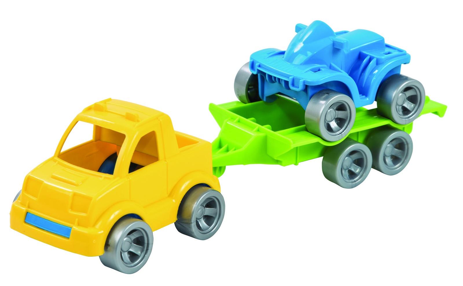 Фото - Машинка-игрушка Wader Kid cars Sport 3 эл. (Пикап + квадроцикл) разноцветный авто