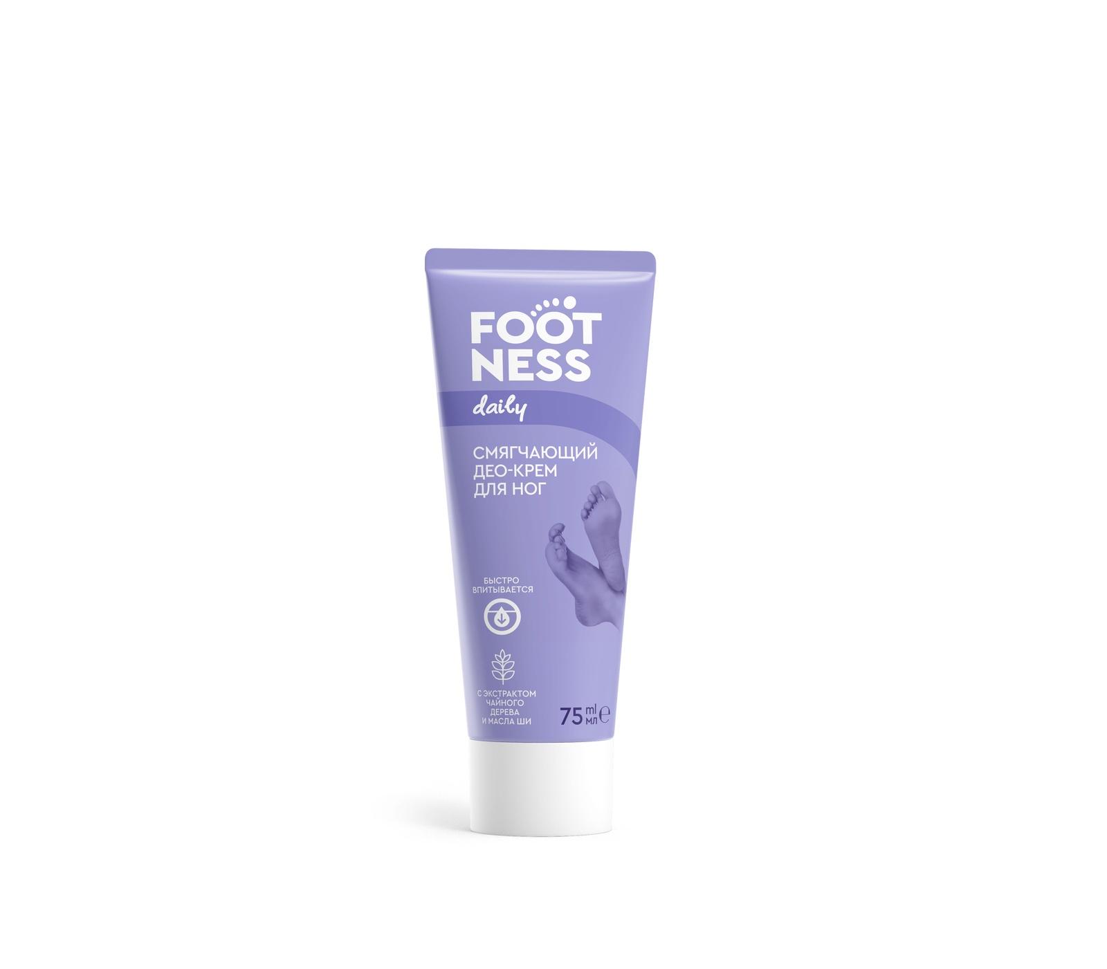 Смягчающий Део-крем для ног 3 в 1 Footness