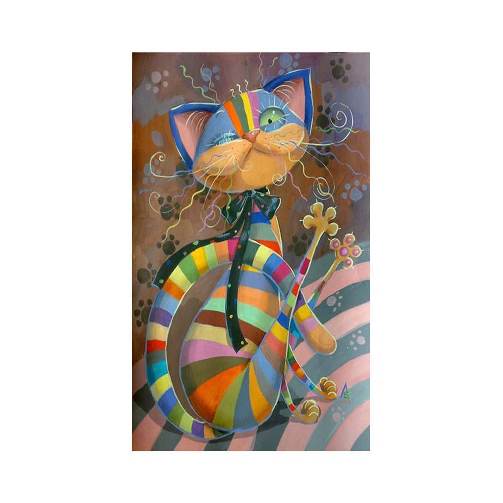 Алмазная мозаика TopSeller Алмазная живопись, вышивка крестом (кошка) алмазная вышивка скрипка и глобус 50x35см алмазная живопись
