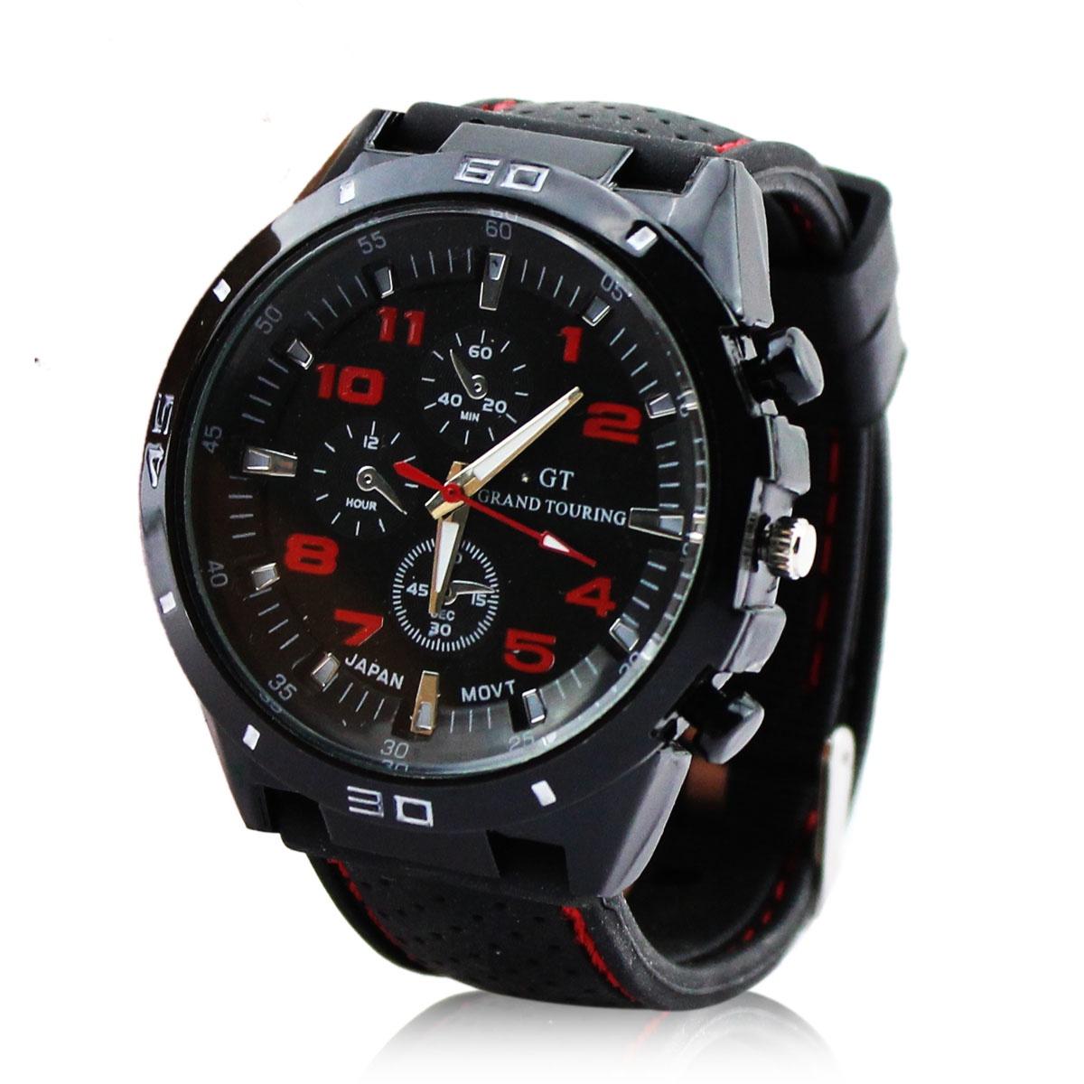 Наручные часы TopSeller Мужские кварцевые наручные (с силиконовым ремешком) часы мужские amst 3003