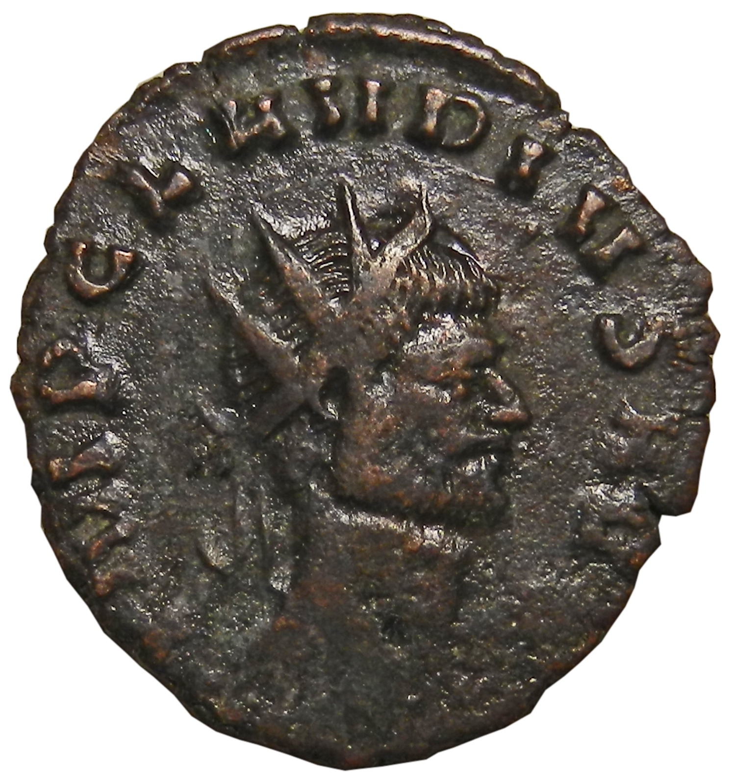 Монета антониниан. Клавдий II Готский. Бронза. Древний Рим, 268-270 гг (Юпитер)