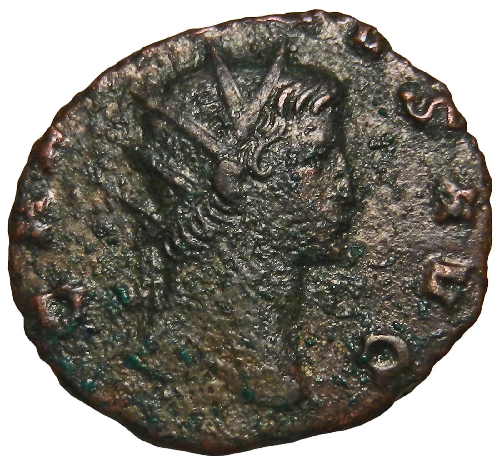 Монета антониниан. Галлиен. Бронза. Древний Рим, 260-268 гг. (Абунданция)