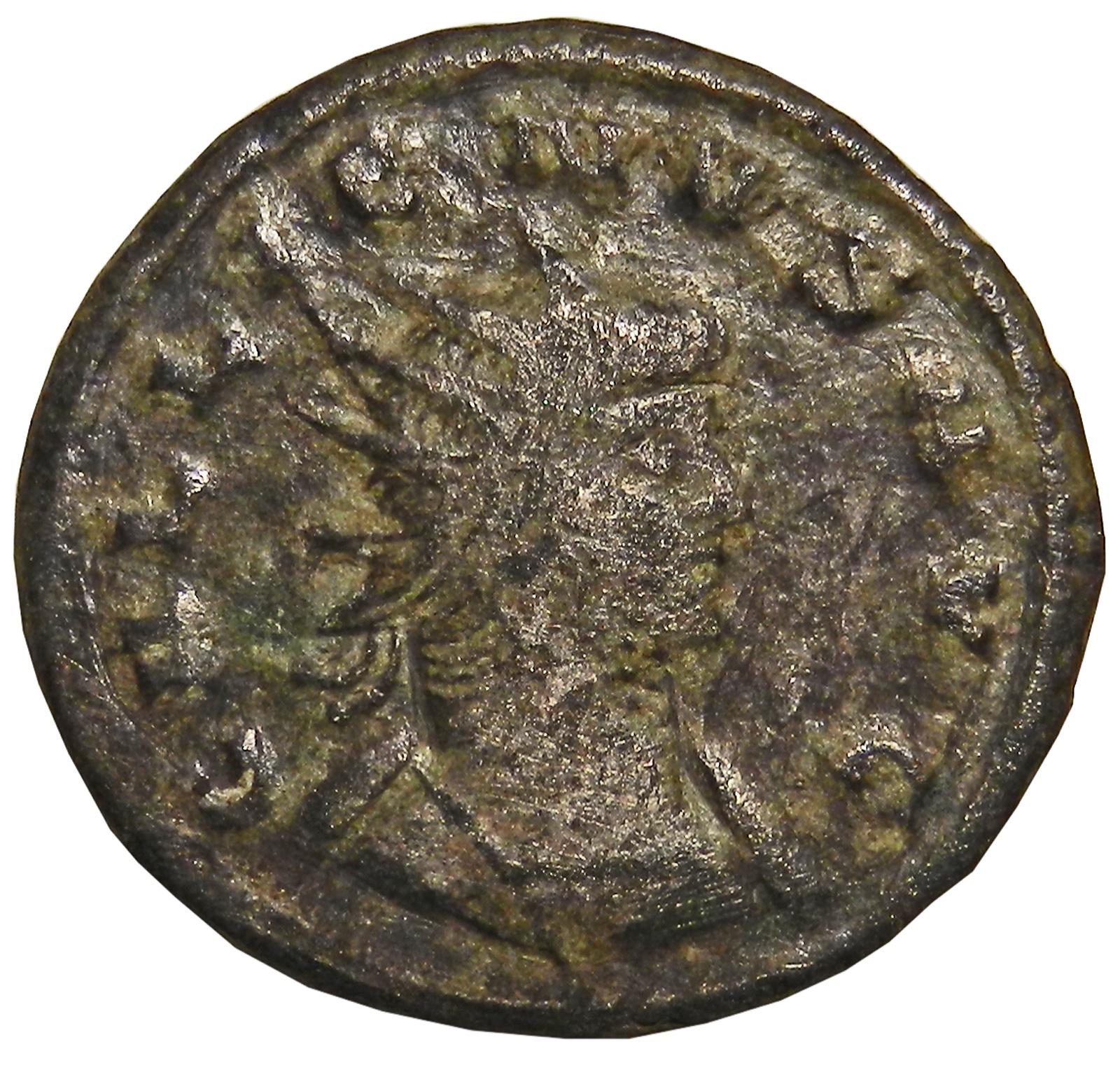 Монета антониниан. Галлиен. Бронза. Древний Рим, 260-268 гг. (Эскулап)