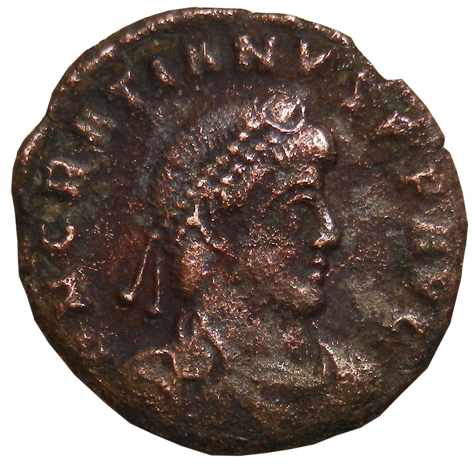 Монета AE3. Грациан. Бронза. Древний Рим, 367-375 гг (Виктория)