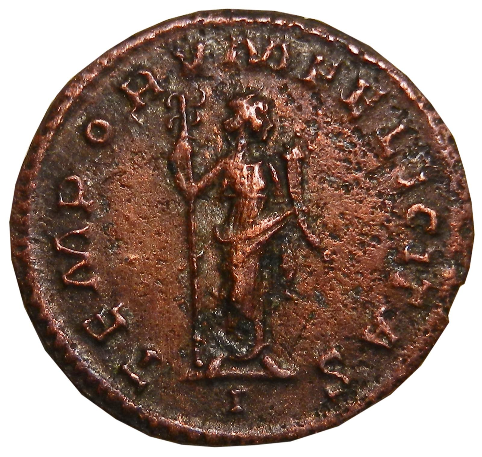 Монета антониниан. Проб. Бронза. Древний Рим, 276-282 гг (Фелиситас)