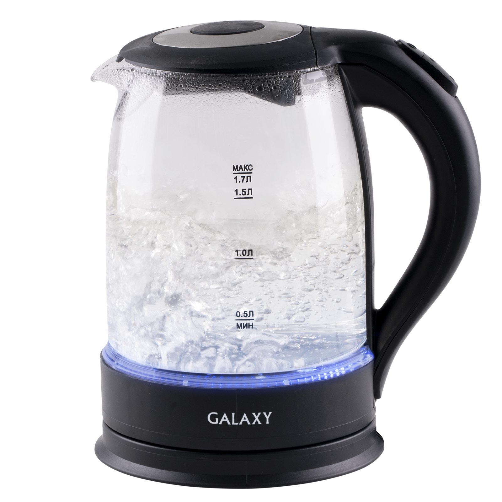 Электрический чайник Galaxy GL0553, черный, 1,7 л цены онлайн