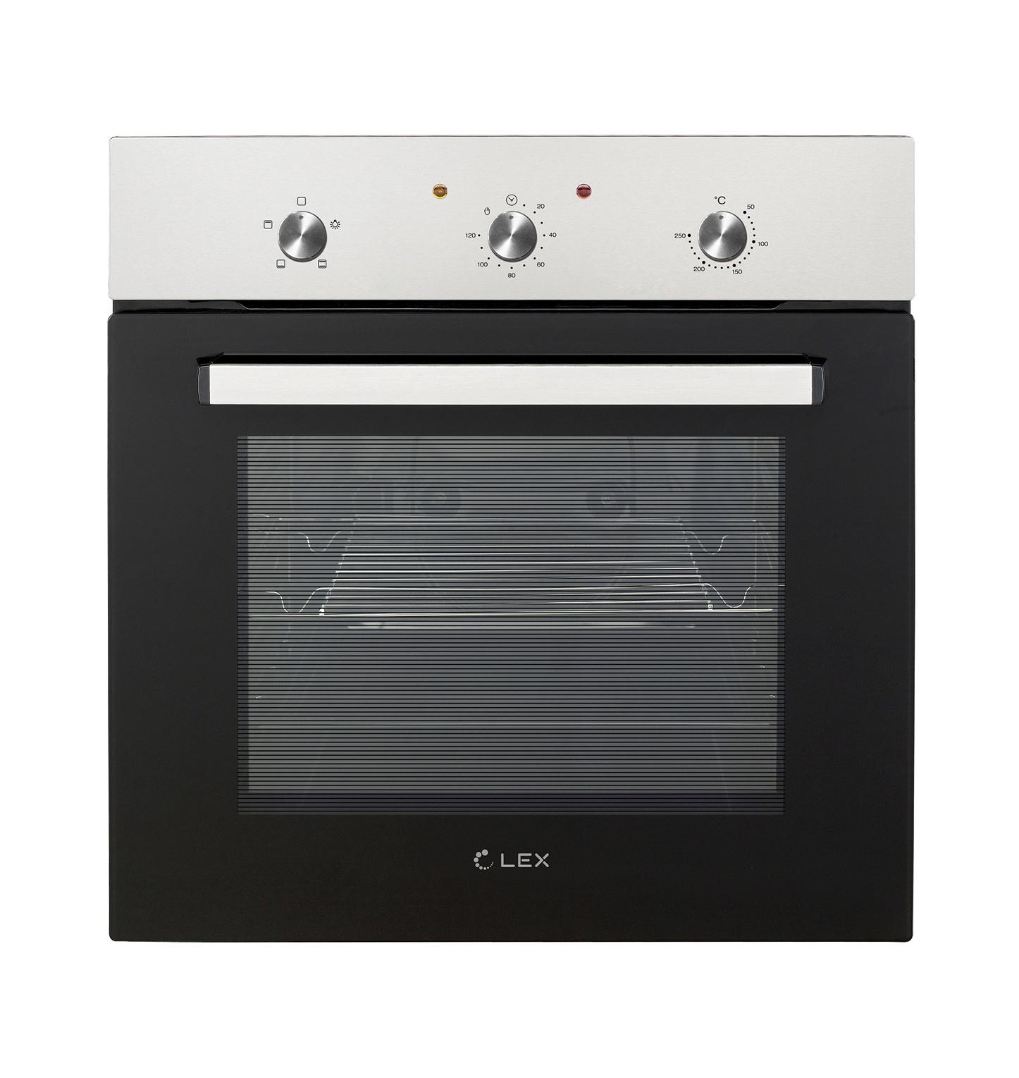 лучшая цена Духовой шкаф Lex EDM 041 IX, серый металлик
