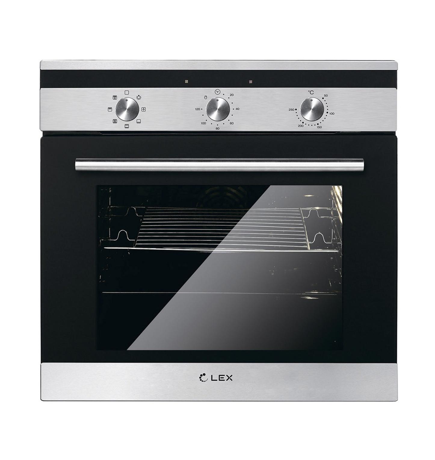 лучшая цена Духовой шкаф Lex EDM 070 IX, черно-серый