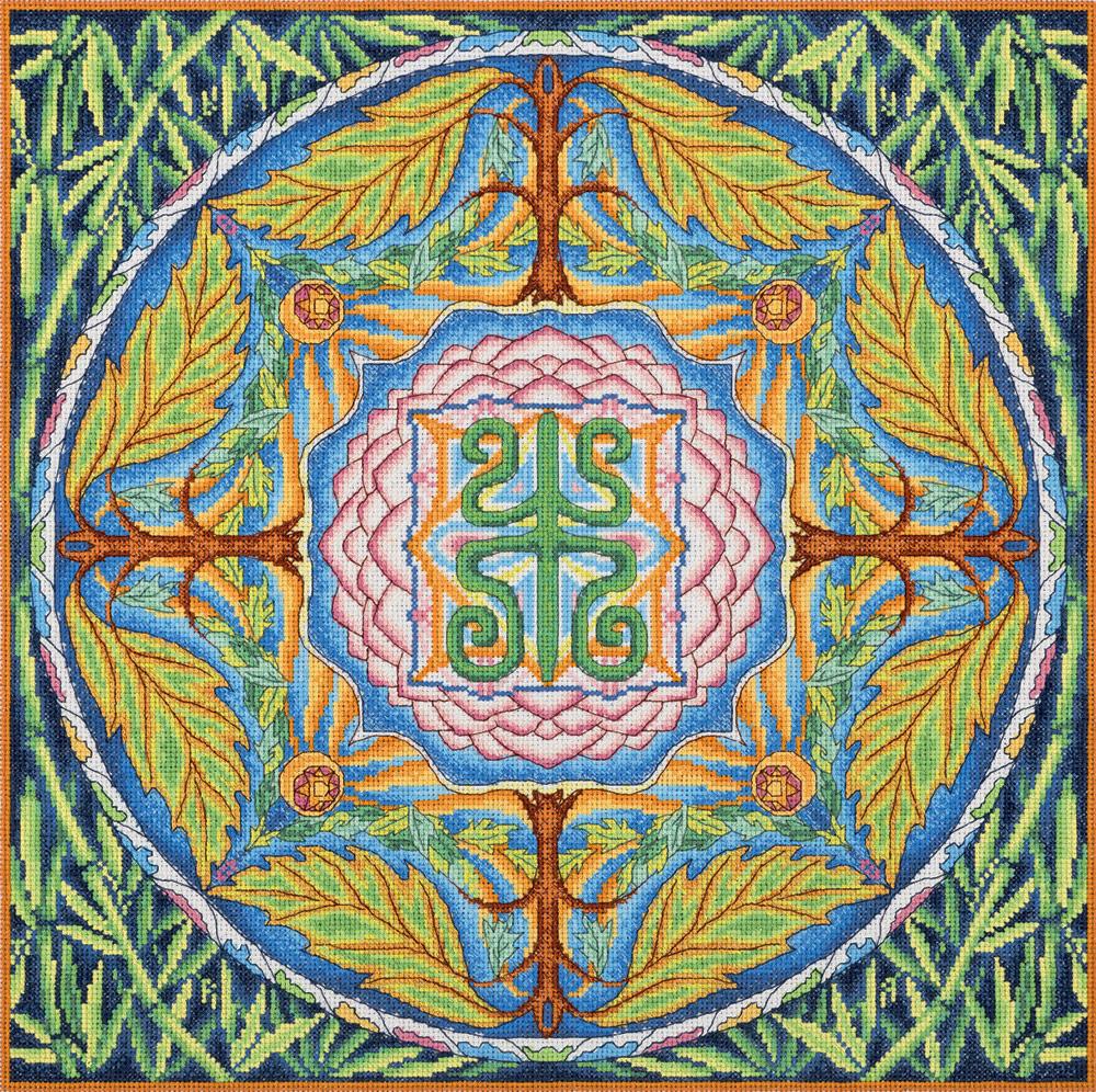 Набор для вышивания крестом Panna Мандала Здоровье, SO-1856, 35 х 35 см набор для вышивания крестом panna подушка мандала 40 х 40 см