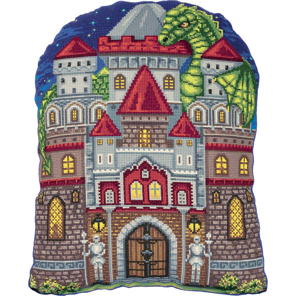 """Набор для вышивания крестом Panna """"Подушка Мой замок"""", PD-7112, 35 х 46 см"""