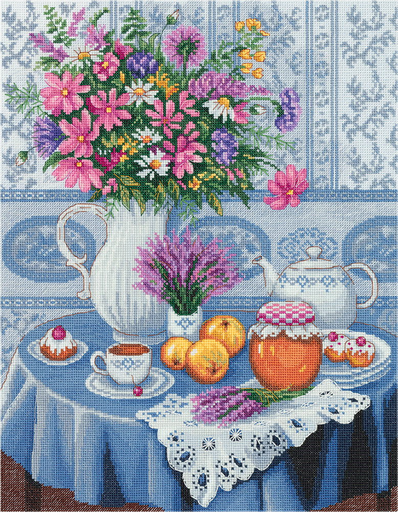 Набор для вышивания крестом Panna Вересковый мёд, N-7132, 28 х 34,5 см набор для вышивания крестом panna благословение успех 27 х 15 см