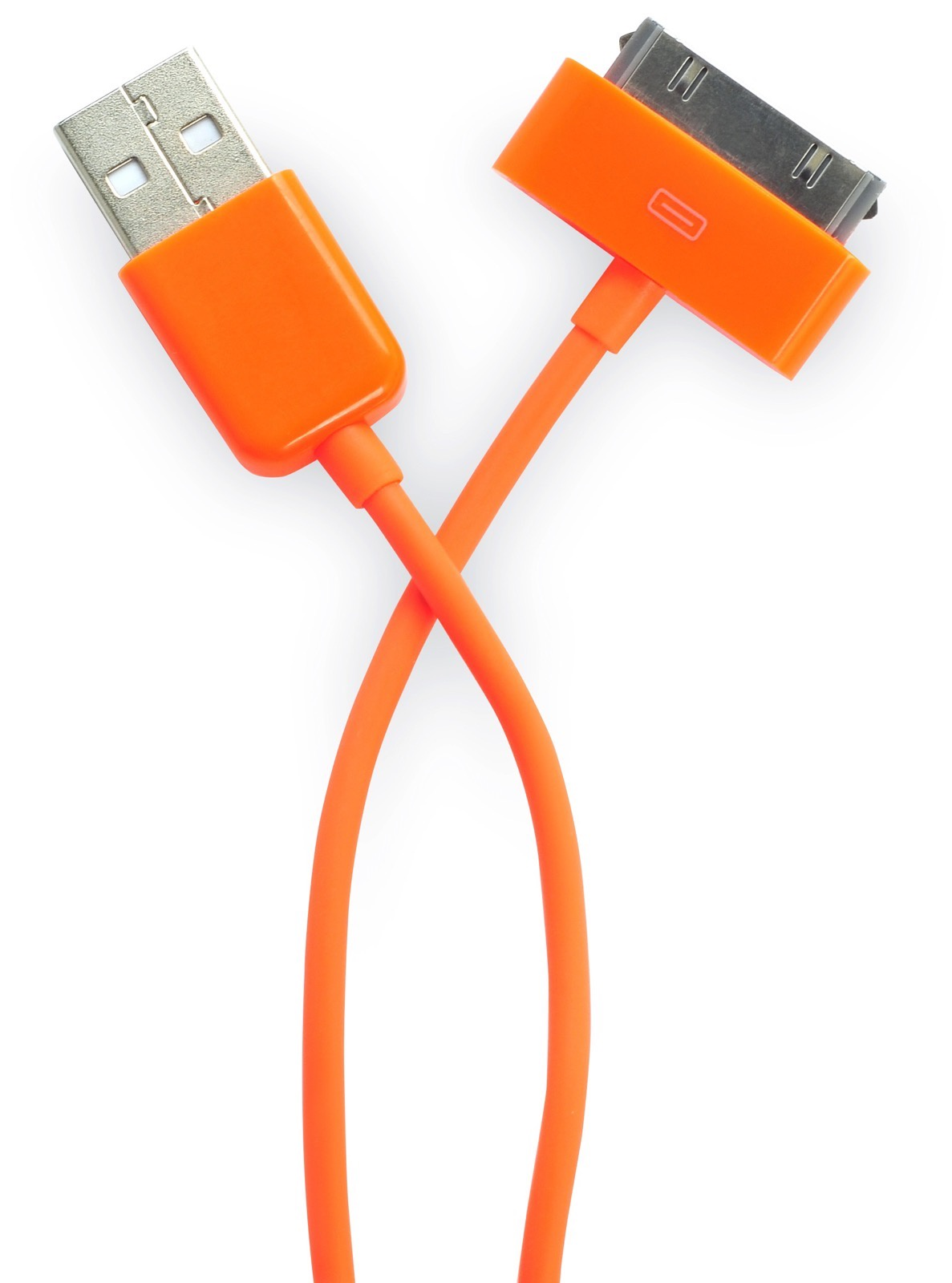 Кабель Gurdini 30- pin 70 см orange для Apple iPhone, iPad, iPod, оранжевый кабель hama 30 pin apple usb 2 0 черный 1м для apple iphone 3g 3gs 4 4s 00093577