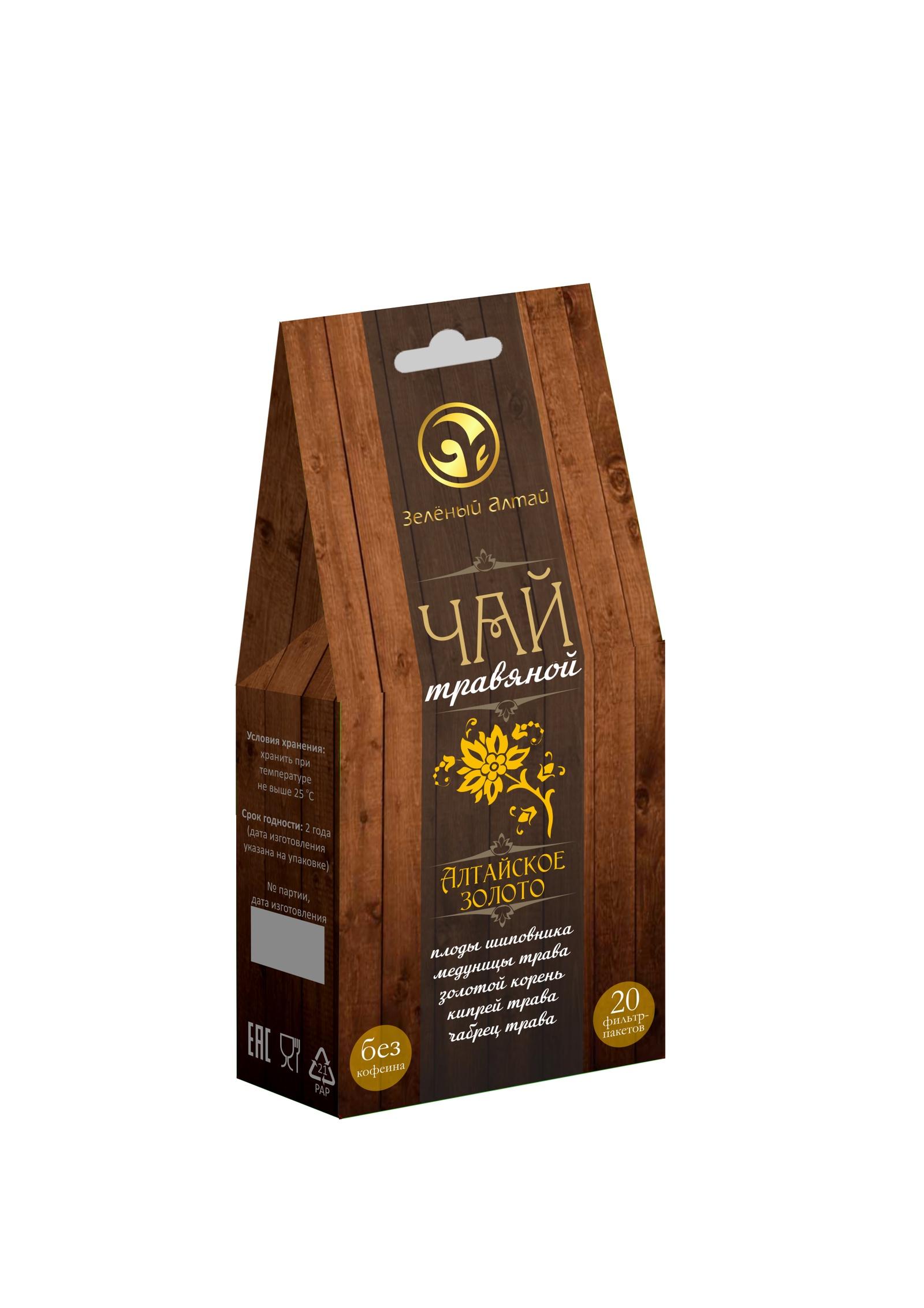 Травяной чай Алтайское золото (плоды шиповниа, медуница, золотой корень, кипрей, чабрец)