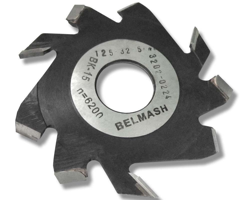 Фреза пазовая (дисковая) BELMASH 125 32 5 мм с подрезающими зубьями