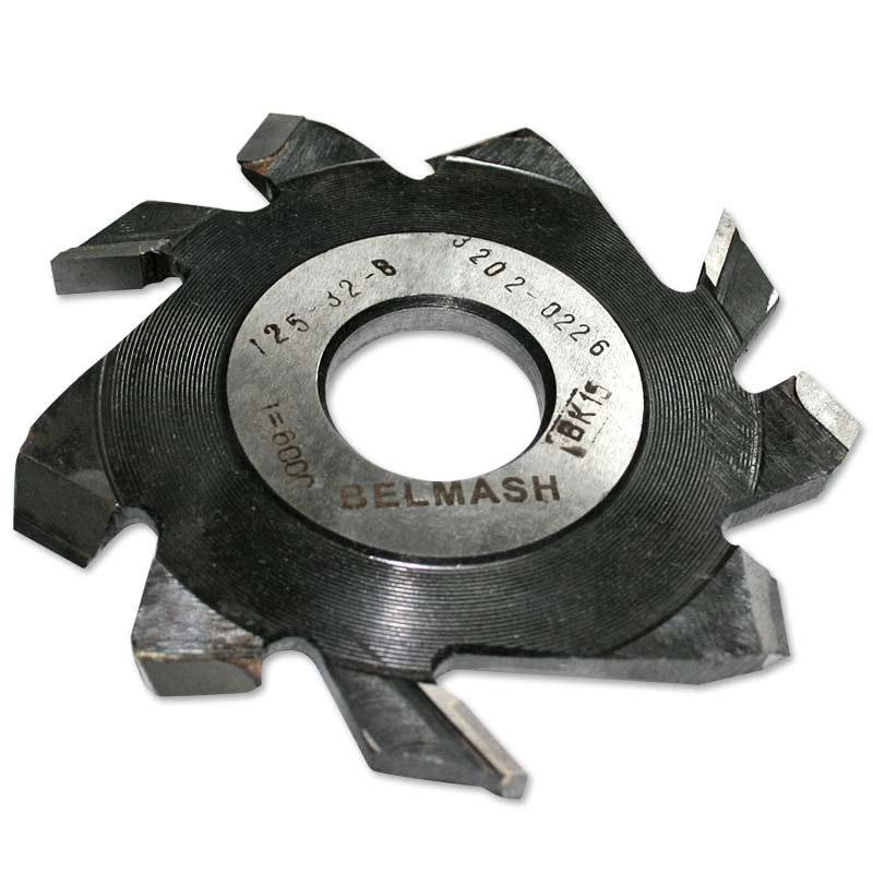 Фреза пазовая (дисковая) BELMASH 125 32 8 мм с подрезающими зубьями