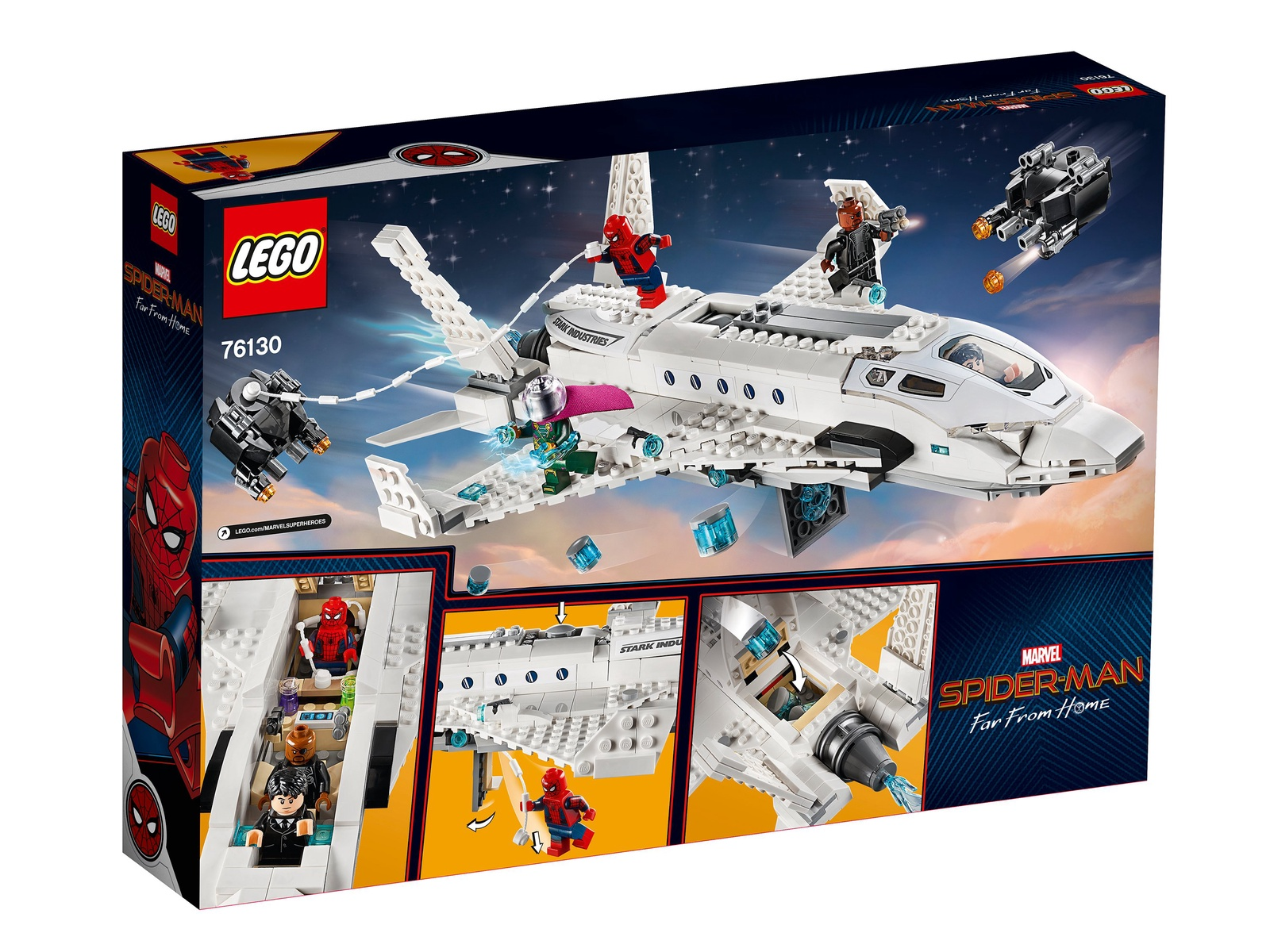 Конструктор LEGO Super Heroes Реактивный самолет Старка и атака дрона lego super heroes 41230 лего супер хироус бэтгёрл погоня на реактивном самолёте
