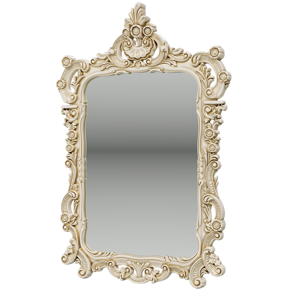Зеркало ЗК-01, цвет слоновая кость, ШхГхВ 70х8х106 см. object desire репродукция музейный экспонат версия 36 в картинной раме офелия