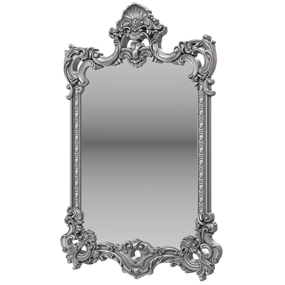 Зеркало ЗК-02, цвет серебро, ШхГхВ 75х8х118 см. object desire репродукция музейный экспонат версия 36 в картинной раме офелия