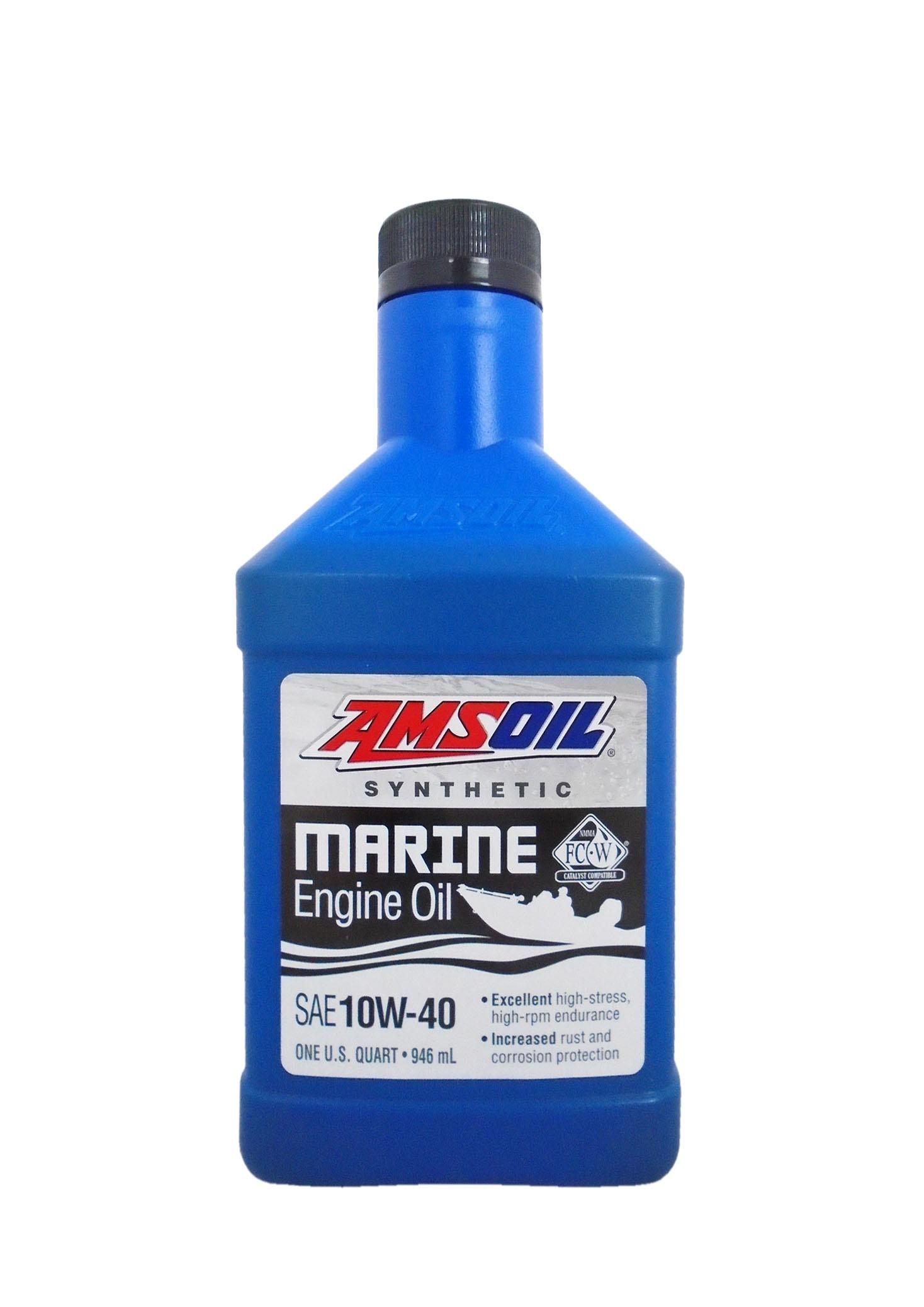 Моторное масло для 4-Такт лод.мот. AMSOIL Synthetic Marine Engine Oil SAE 10W-40 (0,946л)