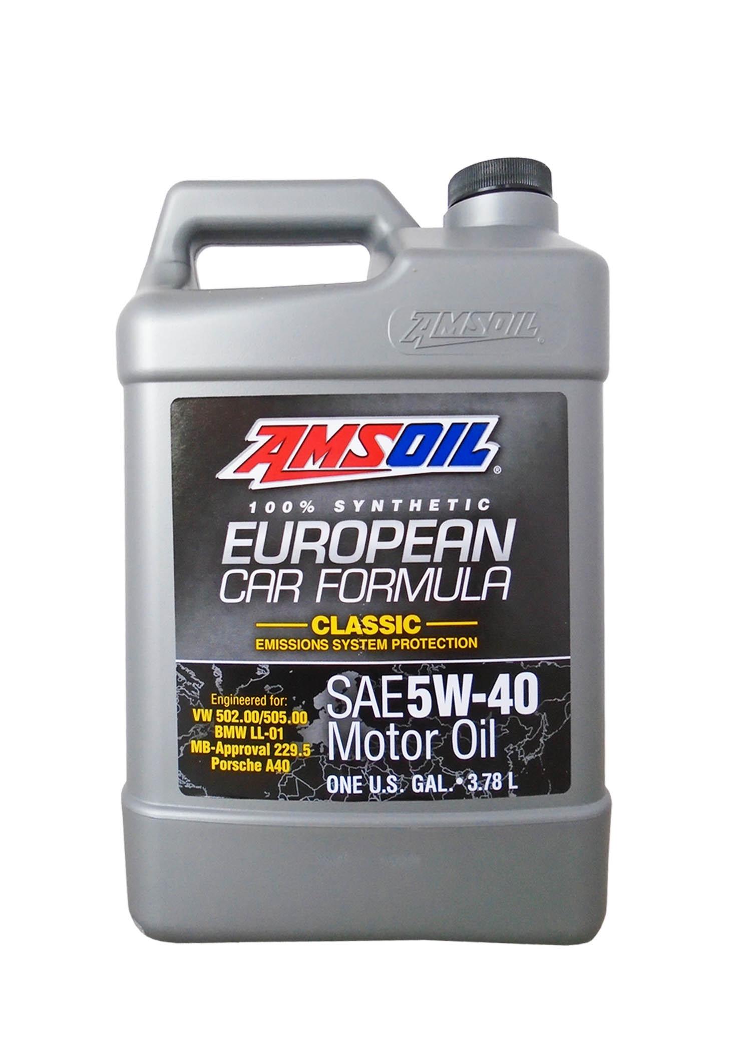 Моторное масло AMSOIL European Car Formula SAE 5W-40 Classic ESP Synthetic Motor Oil (3,785л)
