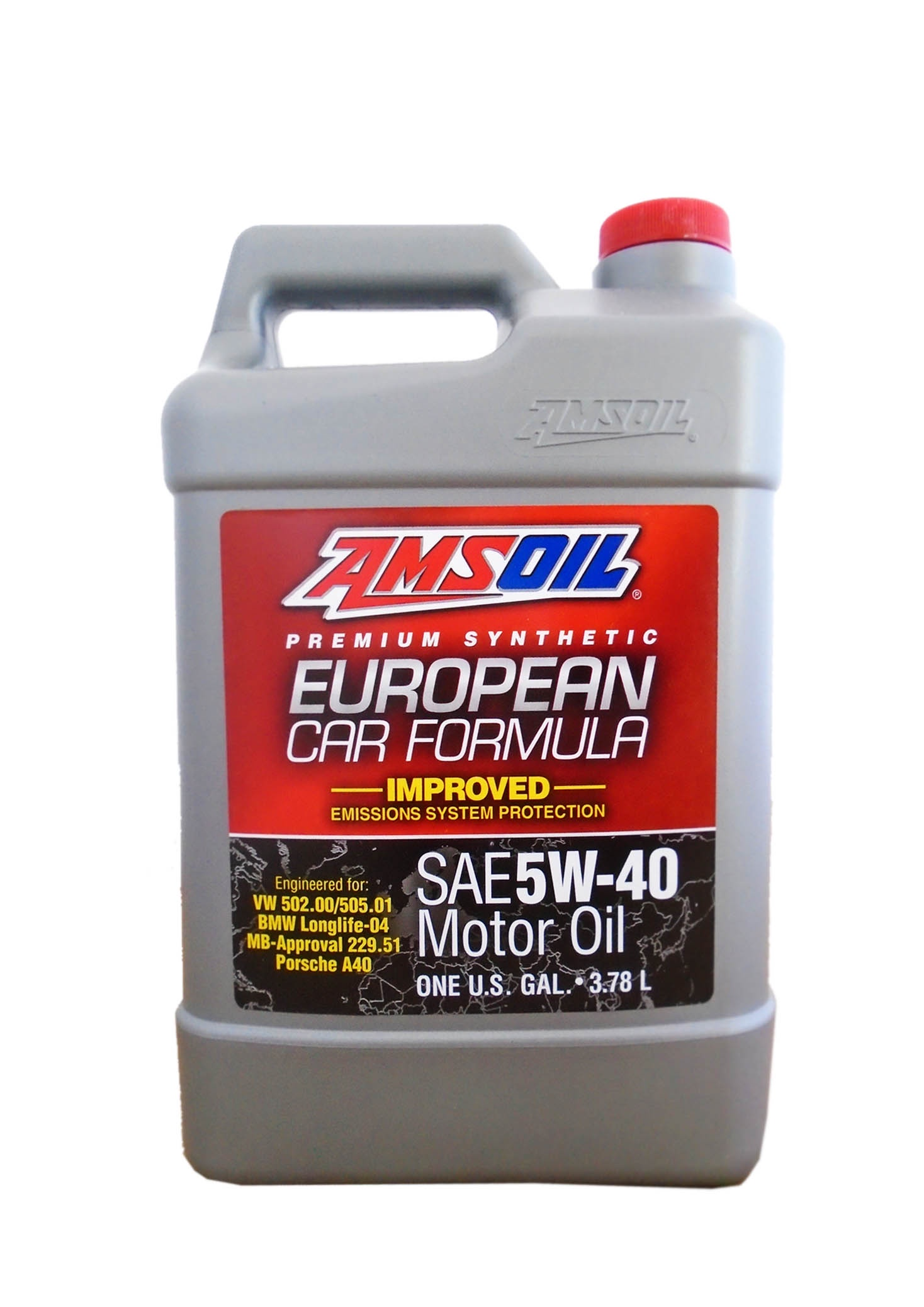Моторное масло AMSOIL European Car Formula SAE 5W-40 Improved ESP Synthetic Motor Oil (3,78л)