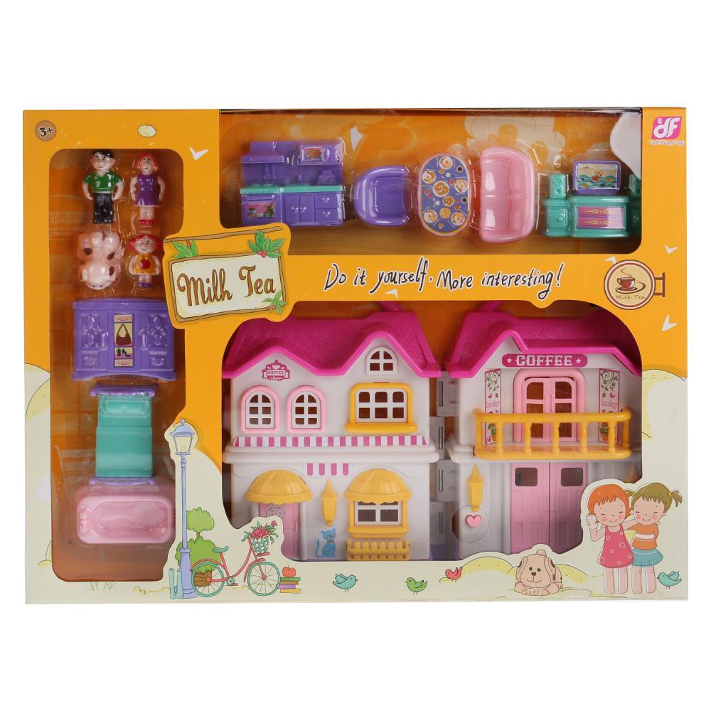 Дом для куклы 864-B с аксессуарами, на батарейках, в коробке