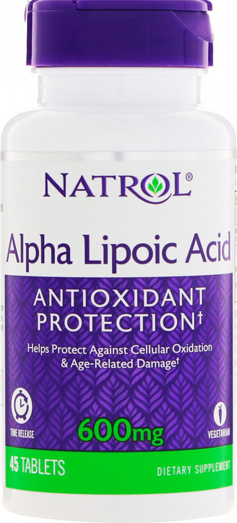 Антиоксидант Natrol Alpha Lipoic Acid 600 мг, 45 таблеток цена