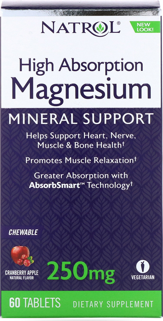 Витаминно-минеральные комплексы Natrol Магнезиум 250 мг, 60 таблеток