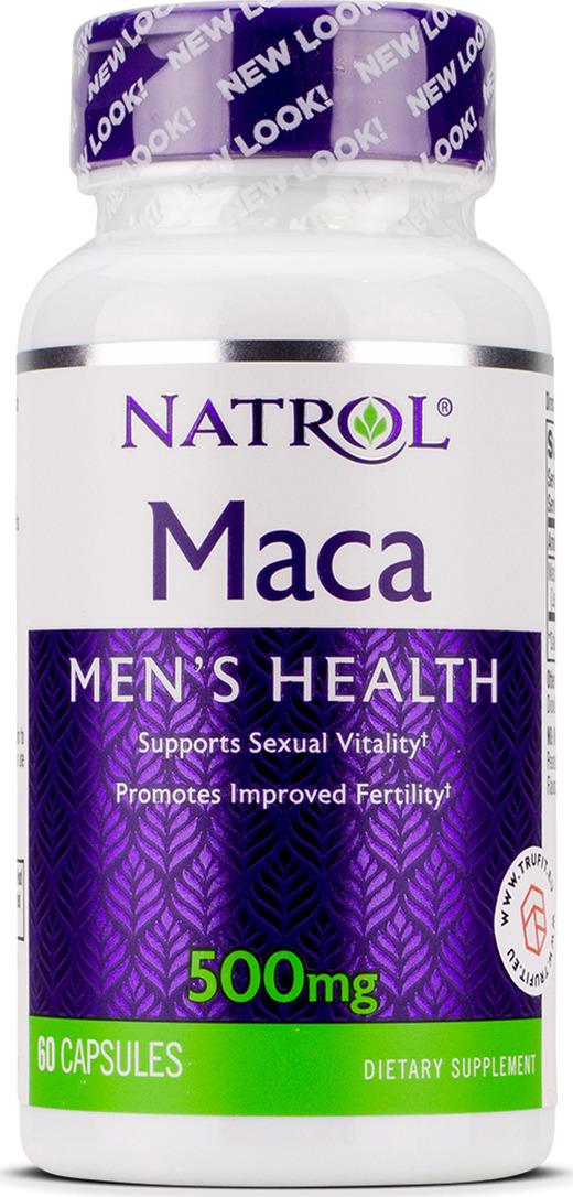 Средства для повышения тестостерона Natrol Мака экстракт 500 мг, 60 таблеток