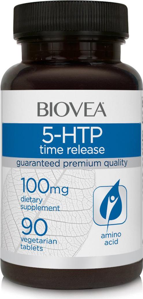 Релаксант Biovea 5-гидрокситриптофан 50 мг, 90 капсул витамины 5 htp