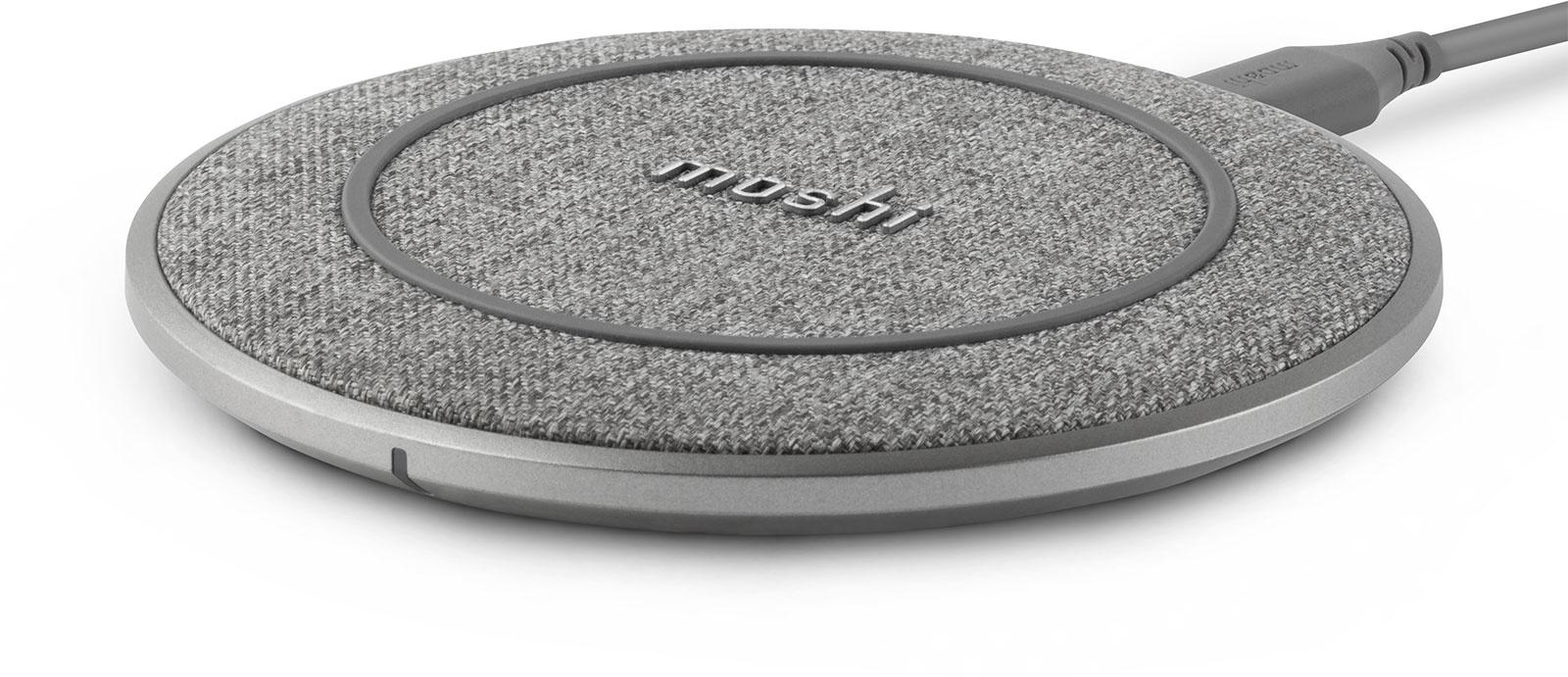 Беспроводное зарядное устройство Moshi Otto Q. Цвет серый.