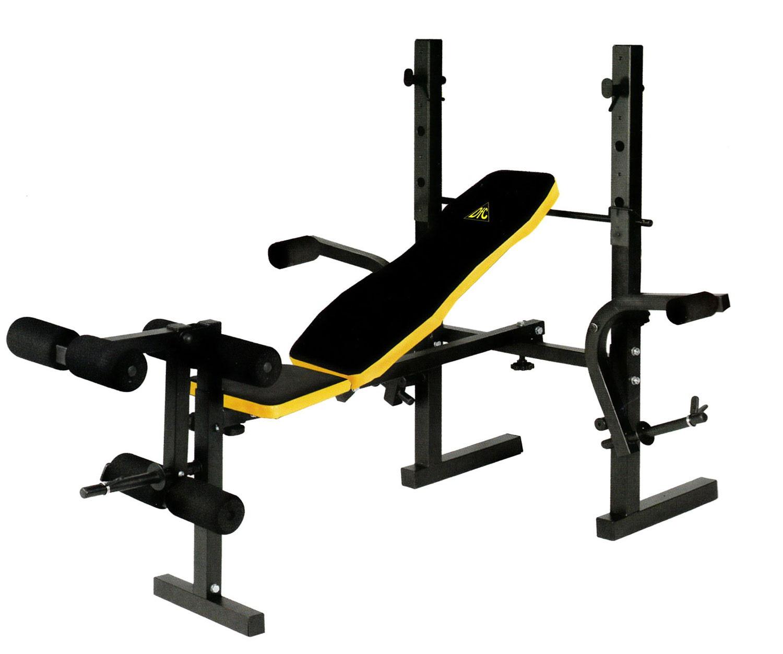 Силовая скамья со стойками DFC D220 многофункциональная скамья со стойками muscle weight bench rho