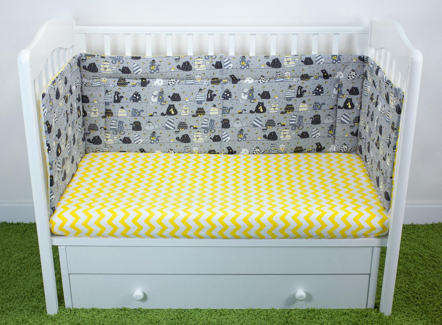 Бортики для детской кроватки Magic City Вечерние коты 45x60