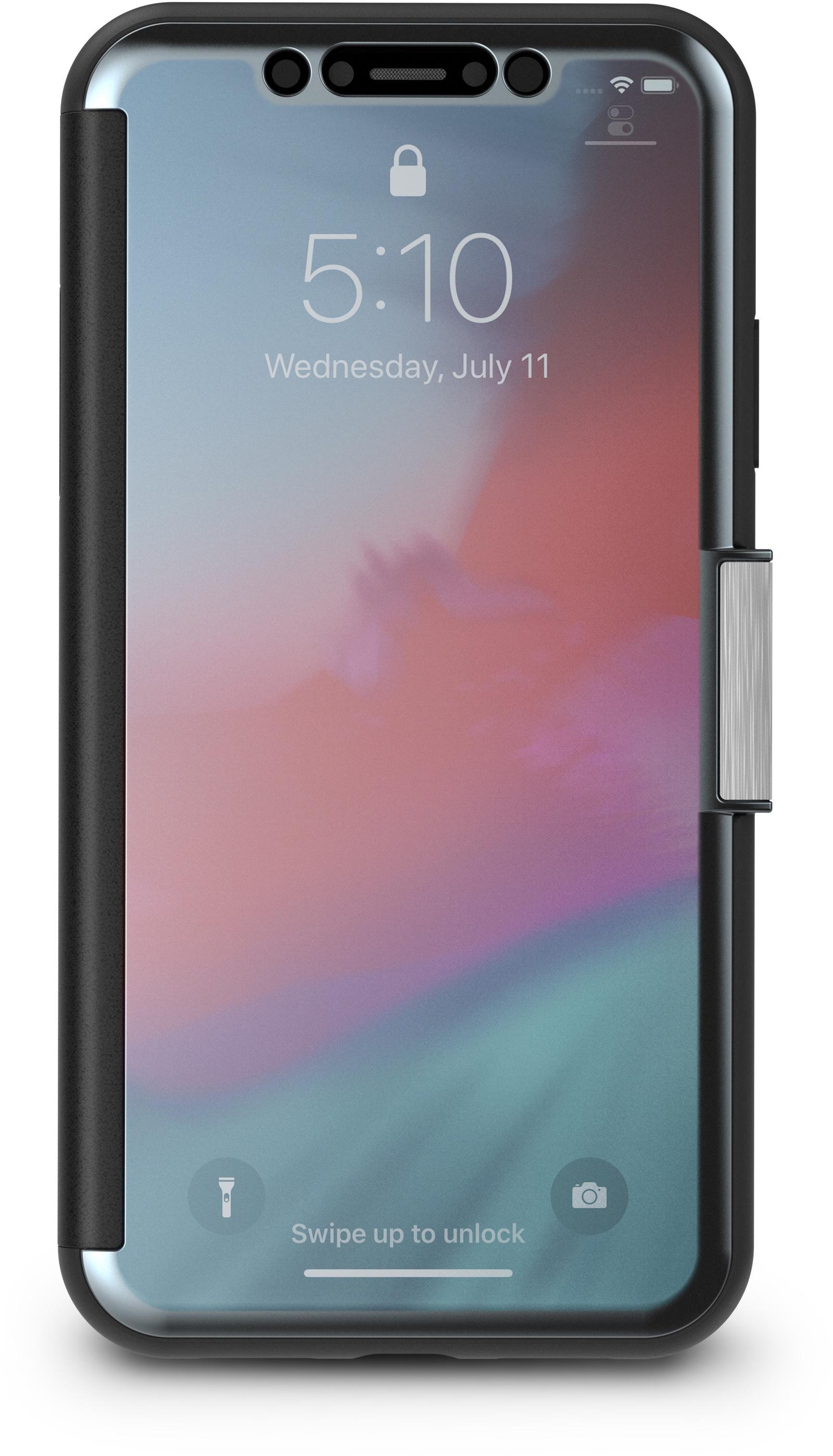 Чехол-книжка Moshi StealthCover для iPhone XR. Материал пластик, полиуретан. Цвет черный. цена и фото