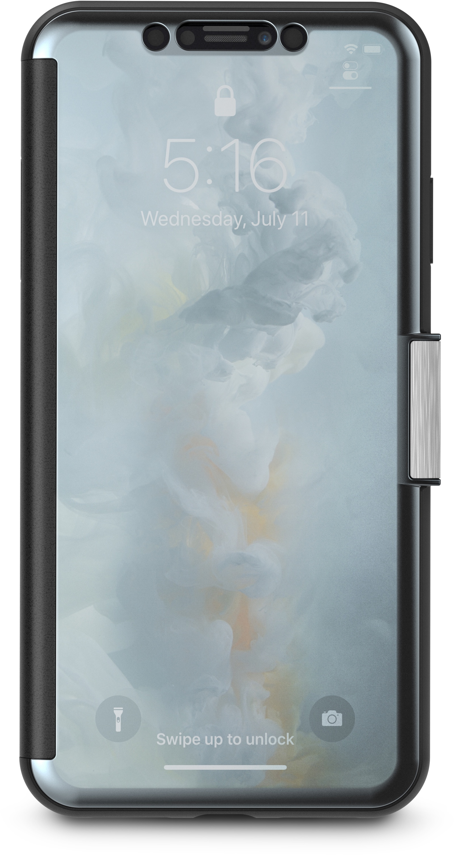 Чехол-книжка Moshi StealthCover для iPhone XS Max. Материал пластик, полиуретан. Цвет черный. цена и фото