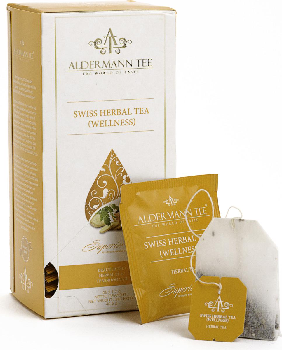 Чай в пакетиках Aldermann Швейцарские травы, черный, 50 г домашняя кухня цедра лимона 20 г