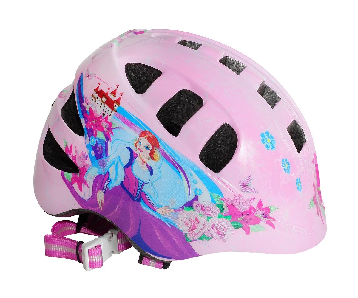 Шлем велосипедный детский VS Принцесса Катя,размер: М (56-58см) мультиключ мультитул moscowcycling мультифункциональный складной карманный мультитул mc tool 01 набор ключей для велосипеда 16 в 1