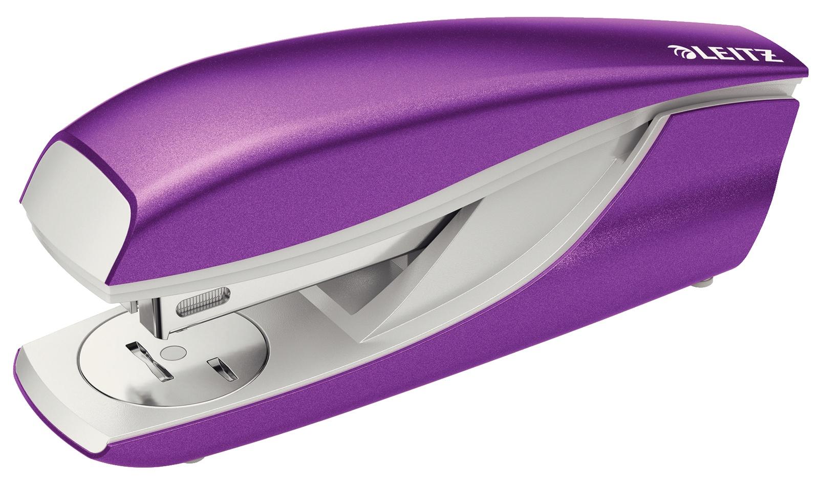 Степлер металлический Leitz NeXXt, 30 листов, фиолетовый металлик, блистер