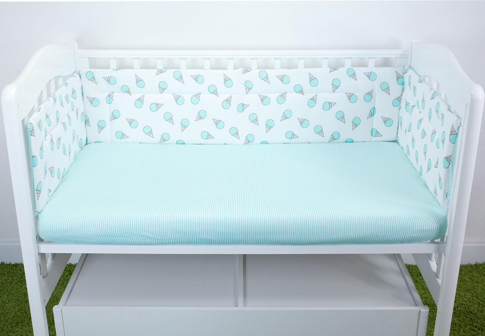 Фото - Бортики для детской кроватки Magic City Фисташковый десерт 35x60 бортики в кроватку лапуляндия бортики домики для мальчика 120х60