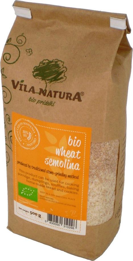 Семолина Vila Natura, пшеничная, жерновая, 500 г